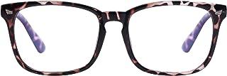 Reading Glasses Blue Light Blocking for Women Men- Square Nerd Eyeglasses Anti Blue Ray Blue Light Blocking Reading Glasses