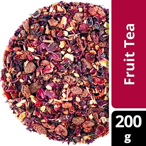amapodo Früchtetee 200g Tee Früchte lose Hibiskus Zimt Hagebutte Nelken Ingwer Korinthen Kinder lieben diesen Früchte-Tee 100% Natürlich ohne Zucker Zusatz