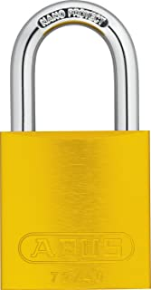 ABUS 72/40 KD Safety Lockout Aluminum Keyed Different Padlock with 1-Inch Shackle, Yellow