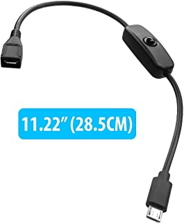 Black 3.3ft1M Quick Power Flat USB-C Cable for Raspberry Pi 3 Model B with USB 3.0 Gigabyte Speeds and Quick Charge Compatible!