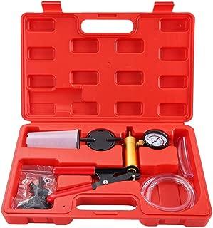 DASBET Hand Held Vacuum Pump Tester Set Vacuum Gauge and Brake Bleeder Kit for Automotive