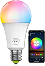 HaoDeng WiFi LED Smart Bulb - Dimmable, Multicolor, Tunable White (Color Changing Disco Ball Lamp) - 9W A19 E27(80W Equiva...