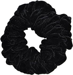 Black Jumbo Velvet Scrunchy