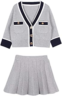 G-Real Toddler Baby Kid Girls Cute Sweater Coat Pleated Skirt Party Wedding Dress Outfits