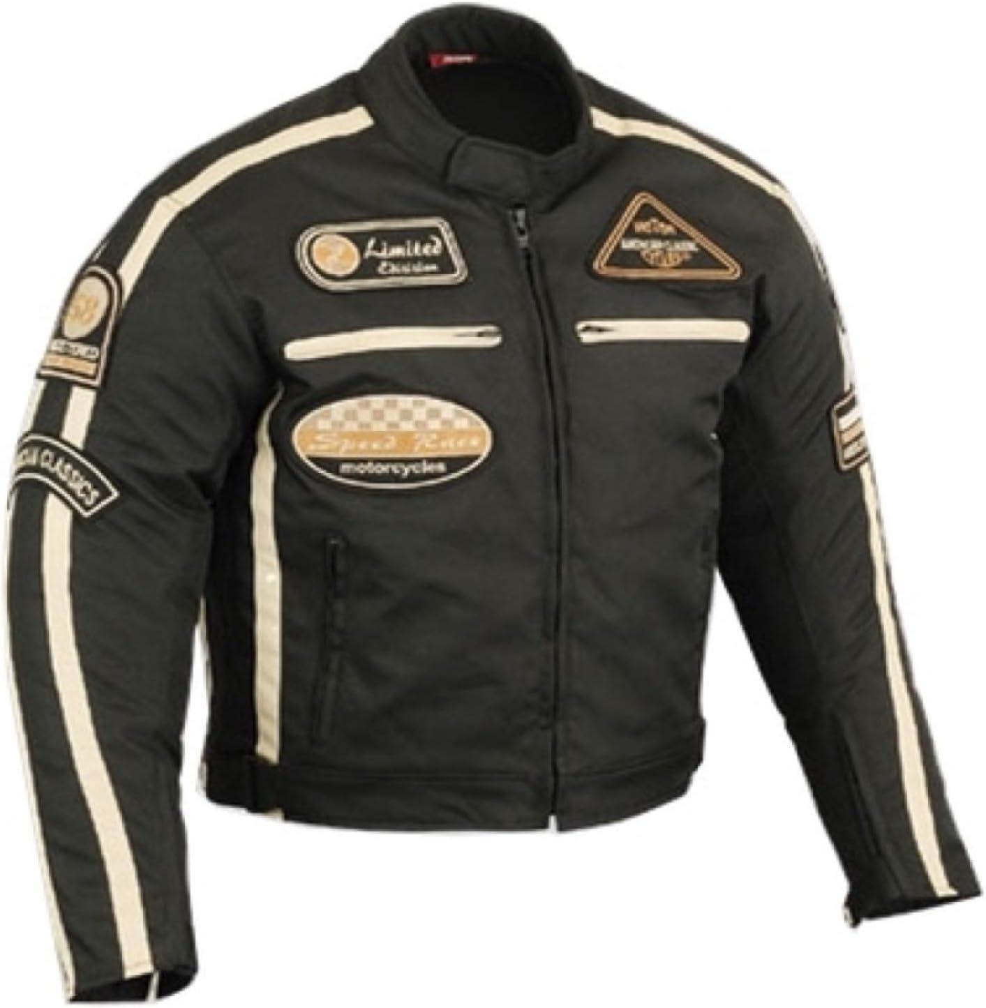 Herren Motorradjacke Motorrad Jacke Cordura Textil Roller Quad Biker Touring Touren Schwarz Für Herren S Bekleidung