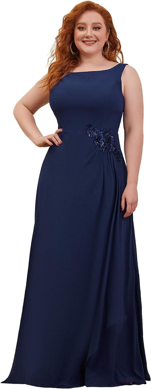Ever-Pretty Womens Plus Size Sleeveless A Line Chiffon Formal Dress 0259-PZ