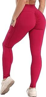 KIWI RATA Women Scrunch Trousers Gym Workout Fitness Waist Capris Yoga Pants Leggings