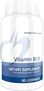 Designs for Health Sublingual Vitamin B12-5000mcg B12 as Methylcobalamin, Natural Berry Flavor (60 Lozenges)