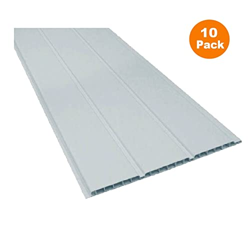 10 x 2.5m Length x 300mm UPVC Plastic Soffit Board Boards White Hollow Cladding