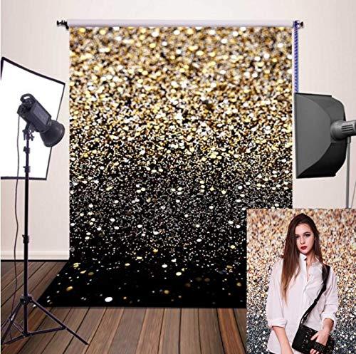MOPHY Fotohintergrund 2,1 x 1,5 Meter Glitter Schwarz Fotografie Hintergrund für Baby Neugeborene Kinder Tiere Objekte Fotografie Video Studio