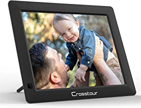 Digital Picture Frame, Crosstour Electronic Photo/Music/Video Frame 4:3 Wide Screen with Remote Control, Best Gift for Birthday and Anniversary