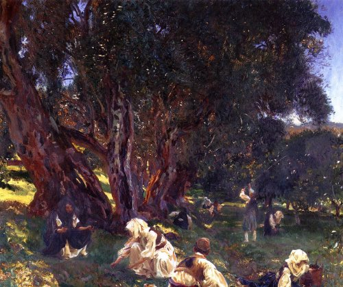 Artisoo Albanian Olive Pickers Oil painting reproduction Size: 30 x 25 inches - John Singer Sargent