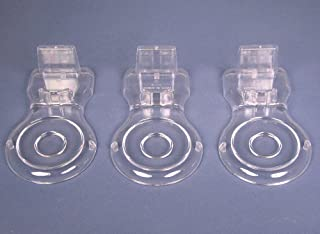 Cup and Saucer Acrylic Display Stands - Set of 3 Holders - Clear Acrylic Finish - Tea Cups
