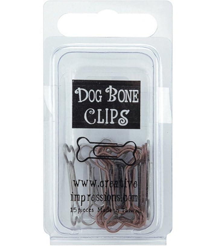 Metal Dog Bone Paper Clips -Pewter & Antique Copper