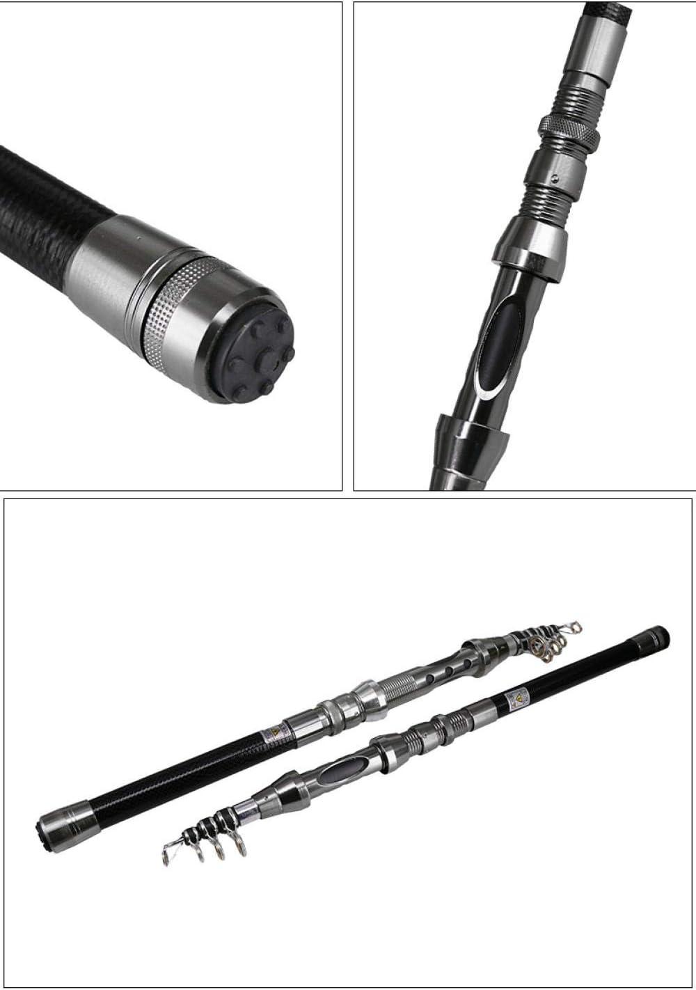 Ajcwhml High Carbon Fiber Telescopic Fishing Rod Portable Fishing Rod Travel Sea Boat Rock Fishing Rod