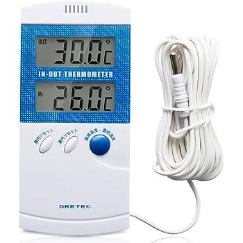 dretec(ドリテック) 温度計 室内 室外 O-209BL(ブルー)