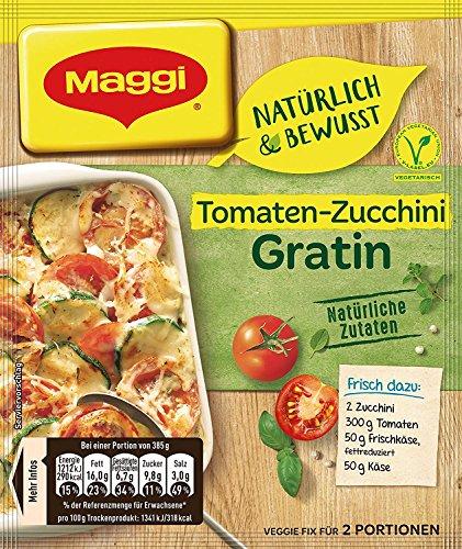 Maggi Natürlich & Bewusst für Tomaten Zucchini Gratin, 18er Pack (18 x 33 g)