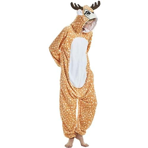 d5515d1e6ad7 Mcdslrgo Unisex-Adult Christmas Onesie Pajamas Halloween Cosplay Costume
