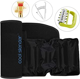 CELLUFREEZE Cool Slender Fat Freezing System - Freeze Fat Cells at Home - Fat Loss with Cold Body Sculpting Wrap Belt - Reduce Tummy and Shape Stomach with The Coolslender Home Waist Trainer Kit …