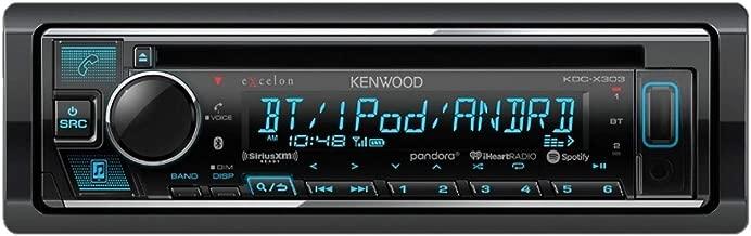 Kenwood Excelon KDC-X303 CD Receiver with Bluetooth (Renewed)