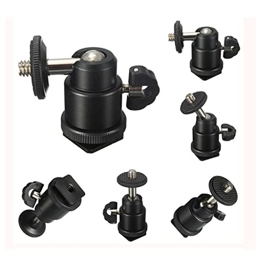"SHOPEE BRANDED Multi Purpose Adjustable Swivel Angle Ball 1/4"" Mini Tripod Ball Head Kit Shoe mount adapter holder for all DSLR camera STAND F.LCD MONITOR D2C"