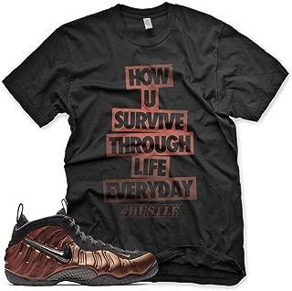 New HUSTLE T Shirt for Nike Foamposite Pro Hyper Crimson