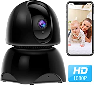 WiFi Pet Camera, 1080P Wireless IP Indoor Home Security Camera, Dog Camera Baby Monitor with Pan Tilt Zoom, 2 Way Audio, Night Vision and Motion Detection