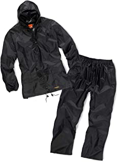 Scruffs T54560 2 Piece Black Waterproof Suit XL
