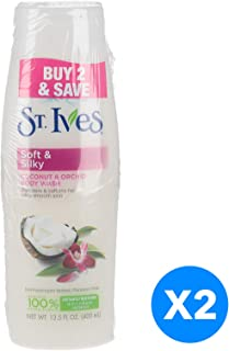 St. Ives Body Wash Induglent Cocunut Milk, 2 x 13.5 Oz