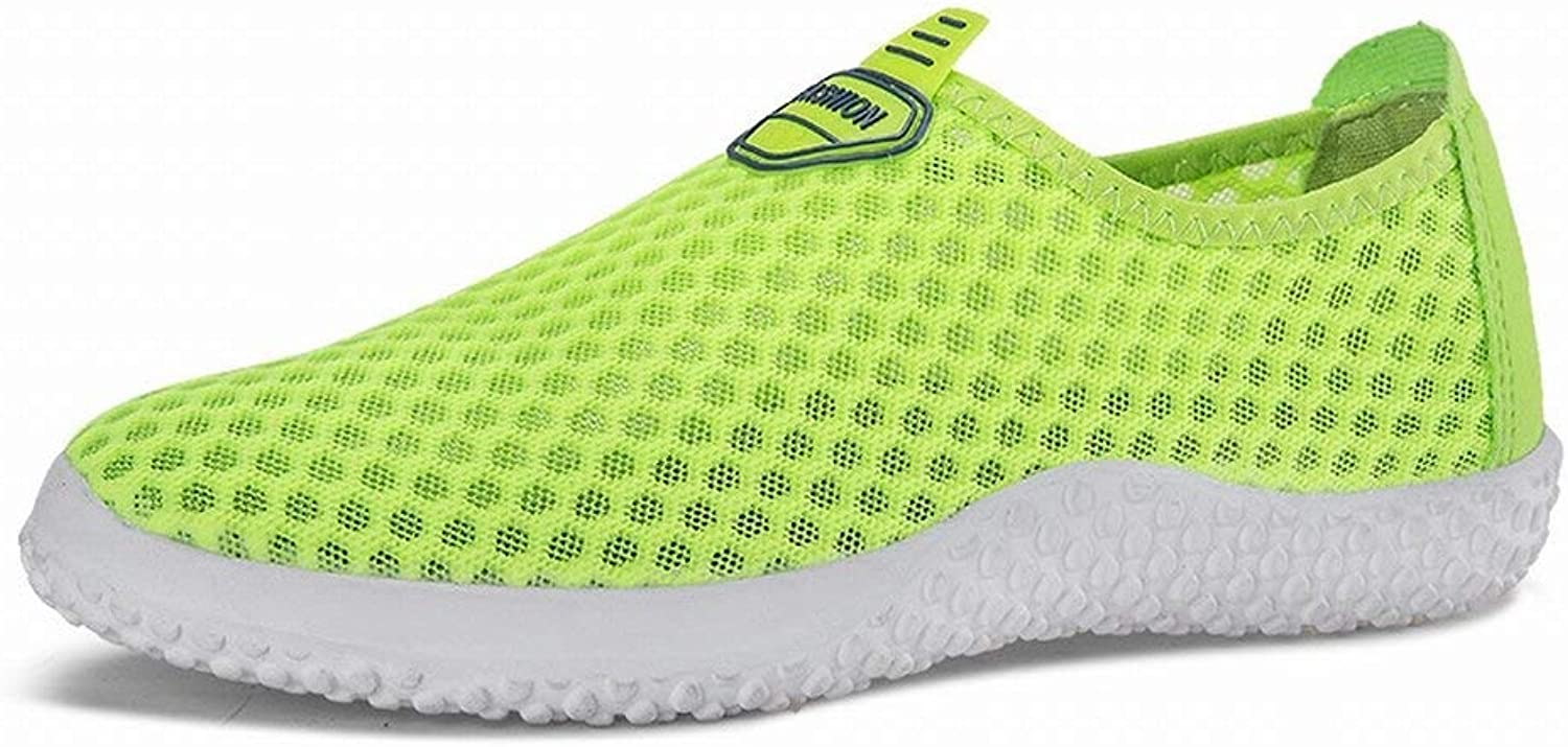 Oudan Couple Simple Mesh Breathable Casual shoes. Simple Men And Women Set Footwear shoes (color   Green, Size   44)