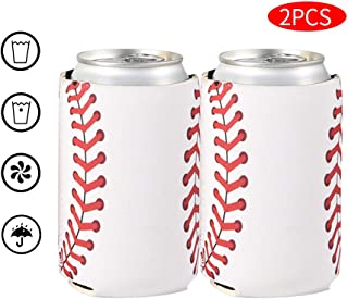Beer Drink Can Sleeves -2 PCS Neoprene coolies,Can Cooler Sleeves,Soft,Collapsible Insulator-Fits 12 Ounce Cans- Perfect for BBQ,Weddings,Parties