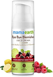 Mamaearth Bye Bye Blemishes Face Cream - For Pigmentation & Blemish Removal, With Mulberry Extract & Vitamin C - 30ml