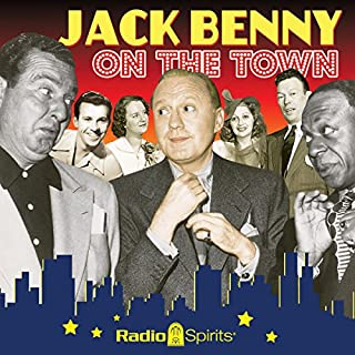 Jack Benny: On the Town audiobook cover art
