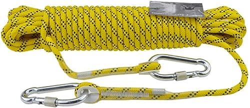 ZAIYI Corde De Réserve Familiale pour L'Aventure en Camping Assisté par Alpinisme De 8MM,jaune-40m8mm
