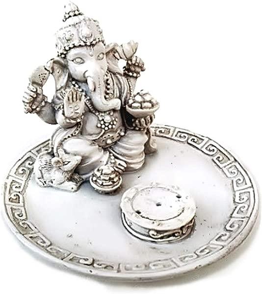 White Beautiful Lord Ganesh Incense Sticks Holder Ganesha Laxmi Shiva Durga Kali