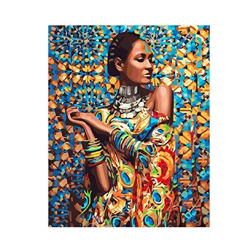 WZZPSD Puzzle 1000 Pezzi Personaggi Sposati Bellezza Africana Salotto Puzzle in Legno Fai da Te Stile Regalo per La Casa