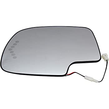 SCITOO Left Side Mirror Glass Fit Compatible with 2003-2004 Chevrolet Silverado 2500 Heated Turn Signal GM1324102