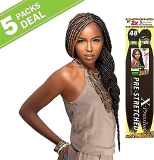 MULTI PACK DEALS! Sensationnel Synthetic Hair Braids XPRESSION 2X Pre-Stretched Braid 48