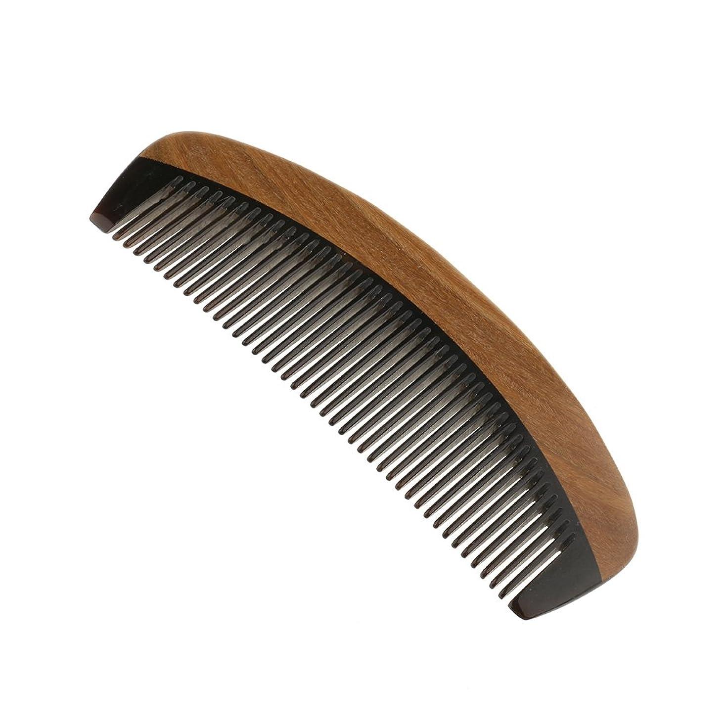 デッキメダル複雑でないKesoto ウッドコーム サンダルウッド ハンドメイド 櫛 静電気 ヘッドマッサージ 髪 ブラシ