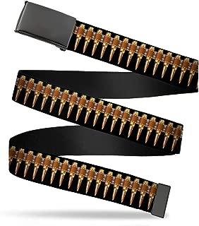 Buckle-Down Unisex-Adult's Web Belt Bullets