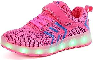 LED Chaussures Garçon Fille USB Chargement 7 Couleurs Lumières Clignotant Sneakers Multisports Outdoor Baskets pour Mixte ...