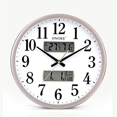 Creative living room wall clock Modern minimalist electronic clock Decorative quartz clock Personality mute bedroom clock