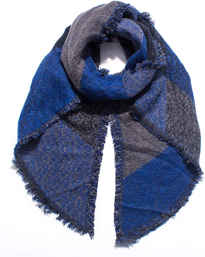 Idea Houses Women's Shawl Wrap Scarf Plaid Blanket Winter Warm Poncho Cloak