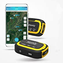 GPS Tracker, No Monthly Fee No Network Required Mini Portable Off-Grid Real Time GPS Tracking Device for Outdoor Hiking, H...