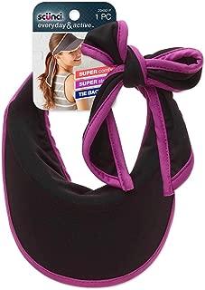 Scunci Tie Back Sporty Visor Headband (Colors May Vary)