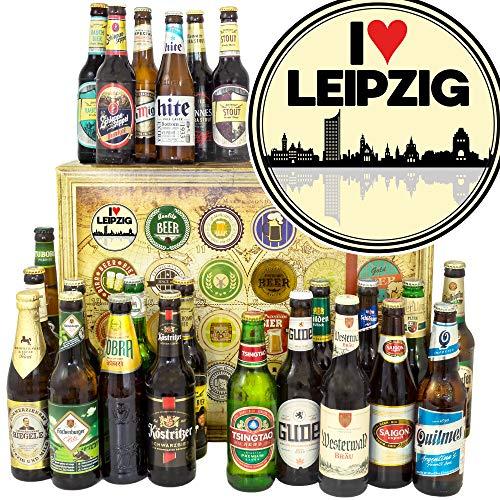 I love Leipzig / 24x Biere DE und Welt/Leipzig Geburtstagsüberraschung/Weihnachtskalender Bier