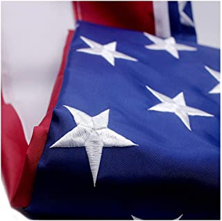 VSVO American Flag 4x6 ft with Durable 300D Nylon Outdoor Flags - UV Protected, Embroidered Stars, Sewn Stripes, Brass Grommets Outside US Flags.