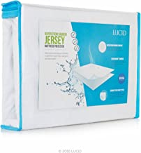 LUCID Premium Rayon from Bamboo Jersey Mattress Protector - Ultra Soft - Waterproof - Dust Mite Proof - Hypoallergenic - Twin