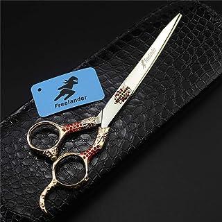 Professionele Straight Shears Pet Schaar 7,0 Inch Japan 440C Roestvrij Staal Set, Kapper Scharen Salon En Familie Voor Ide...