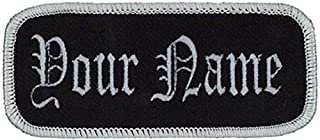 """Name Embroidered Uniform or Work Shirt Personalized Identification Tape Embroidery Sewing or Hook Fasteners Two Packs 1.625""""X3.625"""""""